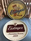 2 VINTAGE ESSLINGER'S BEER BAR TRAY PHILADELPHIA, PA ***