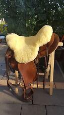 Couvre selle Western neuf en Peau de Mouton 70x70cm,lavable,taille universelle