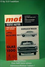 (*G*) MOT 11/63 Opel Rekord Glas 1500 VW Ford 12 M Kombi