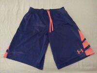 Boys Under Armour Shorts YXL Navy Blue Athletic Gym Workout