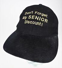 Don't Forget My Senior Discount! Personalized Robert 60 Black Baseball Cap Hat