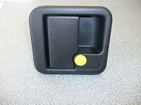 FAP MOTORHOME BLACK SQUARE DOOR LOCK - EXTERIOR ONLY WITHOUT BARREL &  KEY 73212