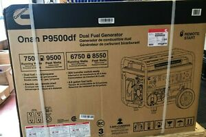 Cummins Onan P9500df Dual Fuel Portable Generator - Black