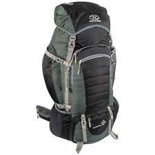 Highlander Expedition 85 Hiking Backpack Travel Rucksack Trekking Pack 85L Black