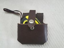 New Brown Leather Tape Holder & Professional Quality Steel Tape Measure 5 M