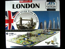 The City Of London 4D City Scape Puzzle History Over Time 1100 + Piece 27x14x3.5