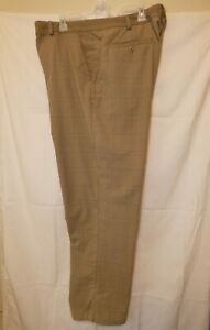 UNDER ARMOUR Mens Pro Golf Pants Brown Plaid Polyester 42x32 Perfect 21