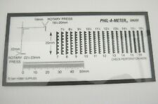 G&K Phil-a-Meter Perforation Gauge Rotary Press for Stamp Collectors