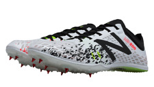 New Balance MMD800V5 Track & Field Spikes Shoes, White & Black - Mens US Size 11