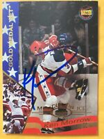 *SIGNED* KEN MORROW 1995 #21 SIGNATURE ROOKIES **GOLD MEDAL SET**~MIRACLE ON ICE