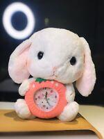 Brand New Amuse Loppy Bunny Rabbit Straberry Clock 30cm Japan Cute Pefect Gift