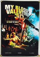 MY BLOODY VALENTINE 3D DS ROLLED ADV ORIG 1SH MOVIE POSTER SLASHER HORROR (2009)