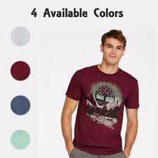 Timberland Men's Short Sleeve Winterscape Graphic Cotton T-Shirt A3REK