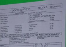 rare 2004 DALEK episode Doctor Who original call sheet script 9th Dr. Who ROSE