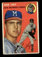 Joe Jay of the Braves on a 1954 Topps card #141 VG