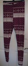 Women's Rue 21 Leggings Size S/M Purple White Snowflakes NEW