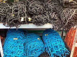 Cargo Nets Strong Heavy Duty Ex Safety,.Trailer Nets Truck 60mm Mesh Blue,Black.