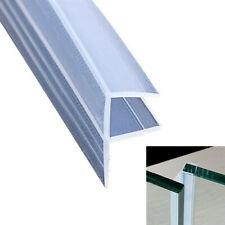 2M 6mm Bath Shower Screen Door Seal Strip Glass Seals Gaps F Shape Silicone