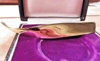 Bezaubernde 925 Silber Brosche Vergoldet Meisterpunze Quinn Designer Modern Top