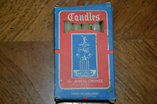 Vintage box of 12 candles for angel chimes - Made in Holland.