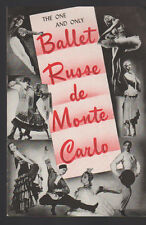 Ballet Russe de Monte Carlo 1950s Ad Sheet