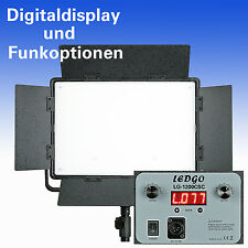 BI-COLOR LED Flächenleuchte LEDGO LG-1200CSC DIGITAL m. LCD-Display + Funkoption