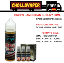 DROPS American Luxury - 50ml y 10ml  E-juice e-liquid