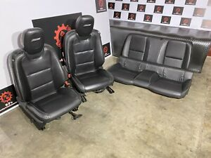 CHEVROLET CAMARO SS 2010-2015 OEM FRONT REAR POWER LEATHER CHAIR SEAT SEATS 40K