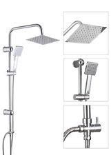 Shower Kit Twin Head Handset Shower Head Water Rainfall Overhead Stainless Steel