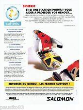 PUBLICITE ADVERTISING 116  1997  les fixations de skis spheric  Salomon