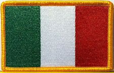 ITALY FLAG embroidered iron-on PATCH ITALIAN EMBLEM new ITALIA TOPPA SOUVENIR