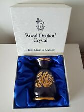 Vintage Royal Doulton Purple & Gold Glass Vase, Made In England