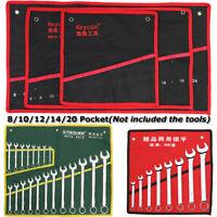 8/10/12/14/20 Pocket Canvas Roll Up Storage Bag Spanner Wrench Organizer