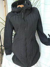 Bench Jacket Coat Ladies Long Quilted Jacket Size S To XL Black Tone (041)