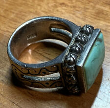 Vintage Sterling Silver Ring .925 Sz 8 Turquoise