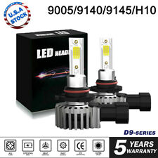 9005 HB3 LED Headlight Kit 2200W 330000LM Hi/Lo Beam Bulb 6000K Halogen replace