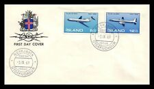 Iceland 1969 FDC, Air Mail. Boeing 727. Lot # 1.