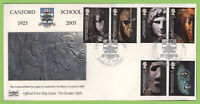 G.B. 2003 British Museum set on Havering First Day Cover, Wimborne Dorset
