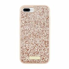"""Authentic Kate Spade New York Case for iPhone 7 4.7"""" Glitter Rose Gold Used"""