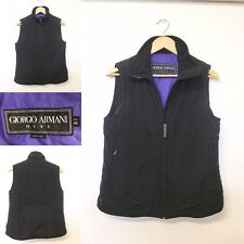 Giorgio Armani Neve Black Bodywarmer Gillet Jacket 40 Made In Italy UK 14 /CUP