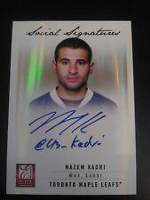 Nazem Kadri 2011-12 Elite Social Signatures Auto Maple Leafs
