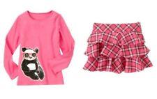 Gymboree Panda Academy Panda Glasses Tee & Plaid Tiered Skort Outfit Size 3 NWT