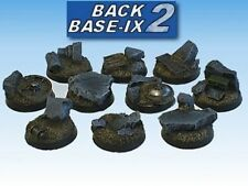 25mm Resin Scenic Bases (10) Round Rubble Warhammer 40k