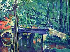 Paul Cezanne puente en bosque viejo maestro Arte Pintura impresión Cartel 2049oma