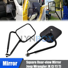 Doors off Square Side View Adventure Mirrors for Jeep Wrangler JK JKU CJ YJ TJ