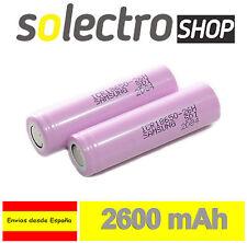 Pila recargable Samsung 18650 2600mah Li-Ion 3 63v litio Batería sin Protec Pp18