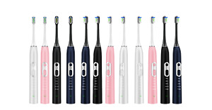 Ultrasonic Electric Toothbrush Adults 100 Days Battery Life Use 5 Option Mode
