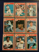 1985 Fleer BOSTON RED SOX Complete Team Set 22 BOGGS, ROGER CLEMENS ROOKIE Look