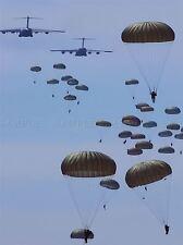 MILITARY AIR PLANE TRANSPORT PARACHUTE AIRBORNE ARMY POSTER ART PRINT BB1241A