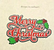 Christmas Title ~ Merry Christmas ~  Die Cut Paper Piecing Scrapbook wollinart